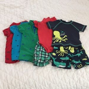 Set of 5 Infant Outfits, Size 9 months